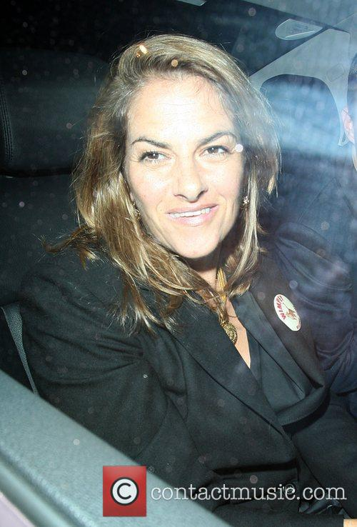 Tracey Emin leaving the Groucho club in Soho