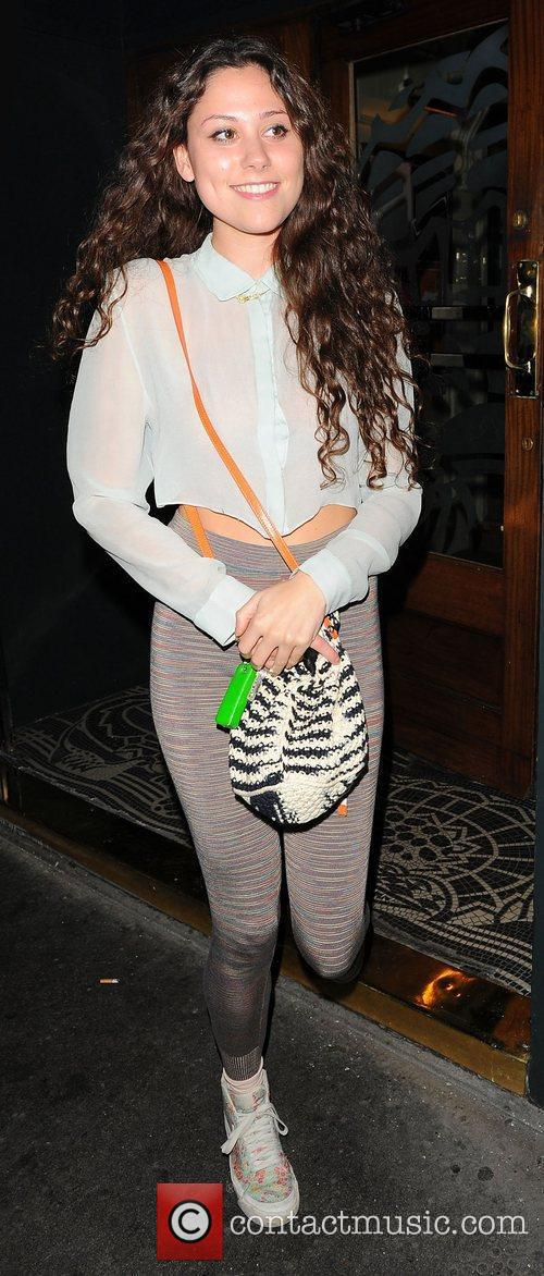 Eliza Doolittle leaving the Groucho Club in Soho