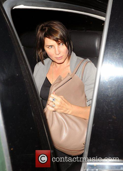 Sadie Frost leaving the Groucho Club in Soho...