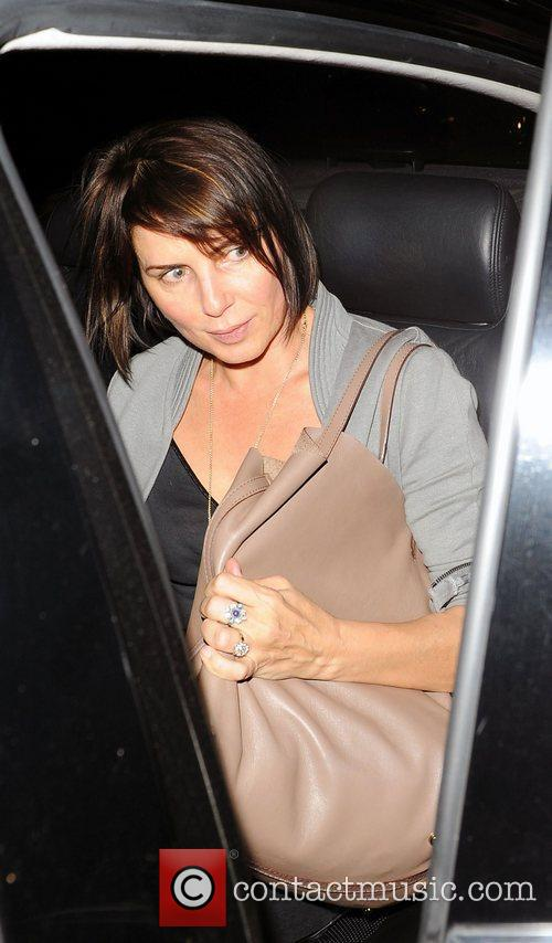 Sadie Frost leaving the Groucho Club in Soho