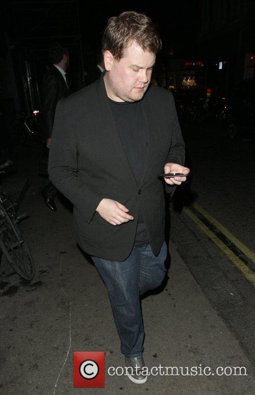 James Corden leaving the Groucho Club.