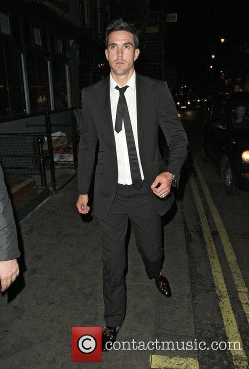 Kevin Peterson leaving the Groucho Club. London, England