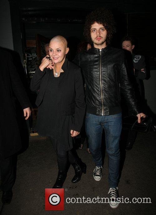 Gail Porter and her boyfriend Johnny Davies...