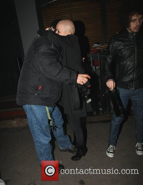 Gail Porter leaving the Groucho Club in Soho....