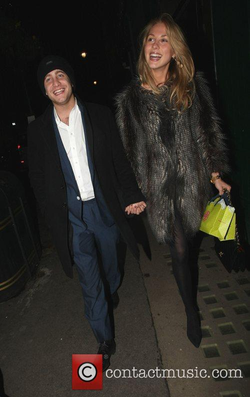 Tyrone Wood leaving the Groucho club with his...