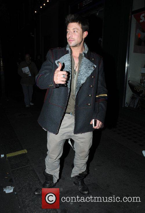 Duncan James at the Groucho club in Soho