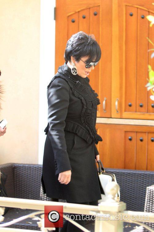 Kris Jenner is seen at The Grove for...