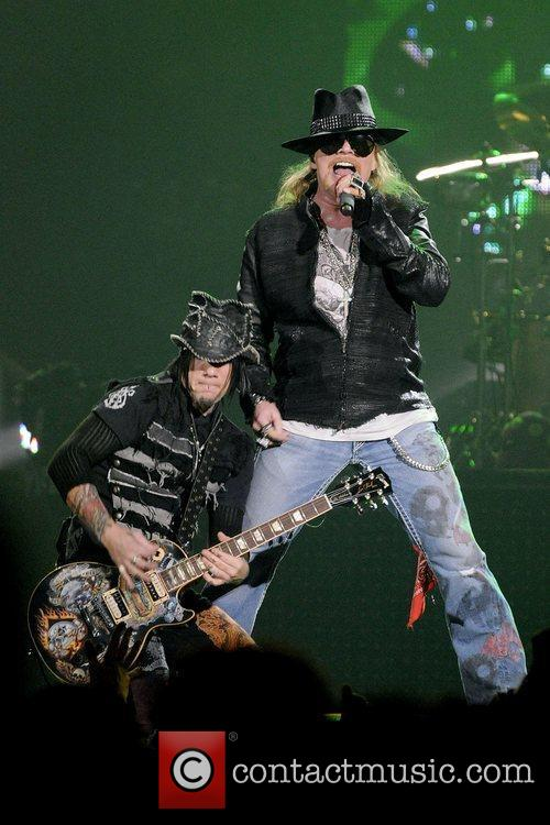 Axl Rose and DJ Ashba  Guns N'...