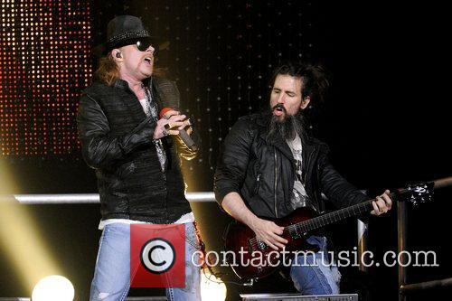 Axl Rose and Ron 'Bumblefoot' Thal Guns N'...