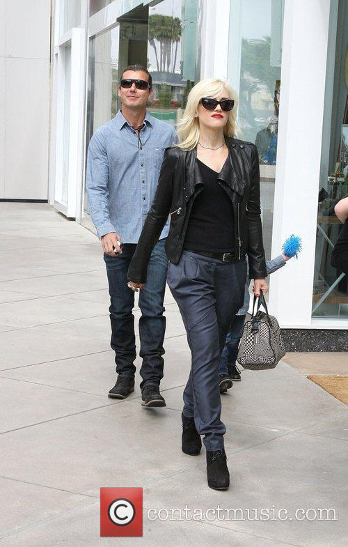 Gwen Stefani and Gavin Rossdale with their son...