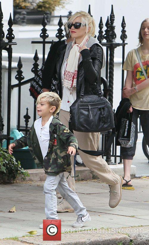 Gwen Stefani and her son Kingston out and...