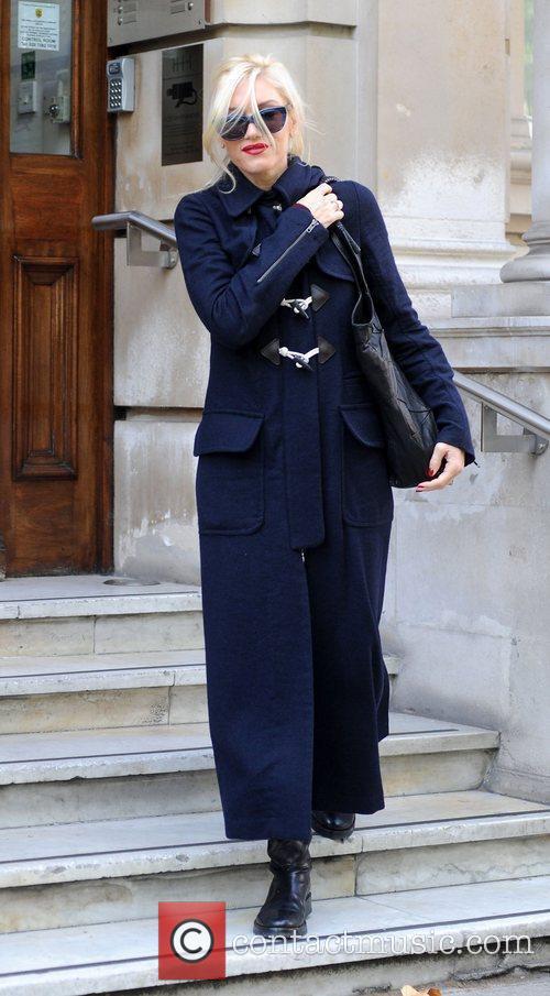 Gwen Stefani leaving an office building in London...
