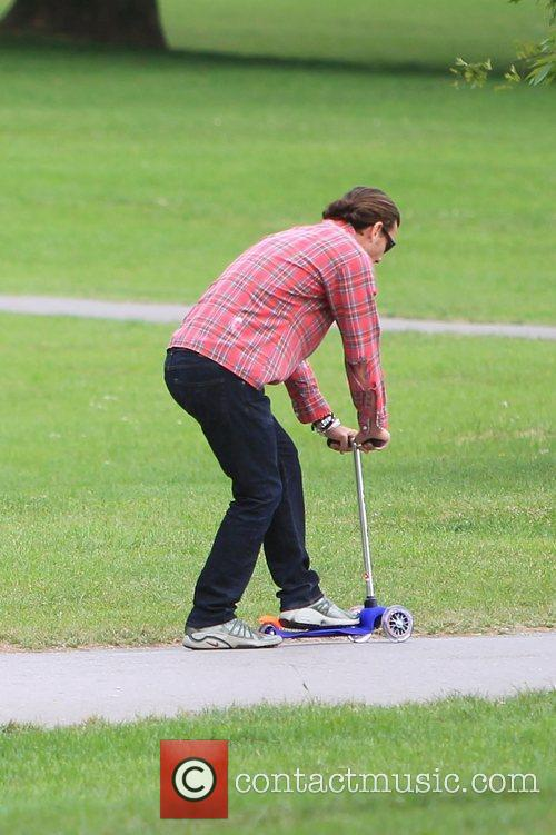 Gavin Rossdale in Primrose Hill with his family...