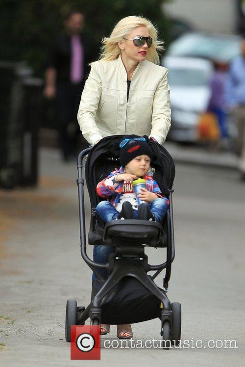 Gwen Stefani in Primrose Hill with her son...