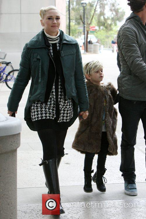 Gwen Stefani, Gavin Rossdale and their sons Kingston...