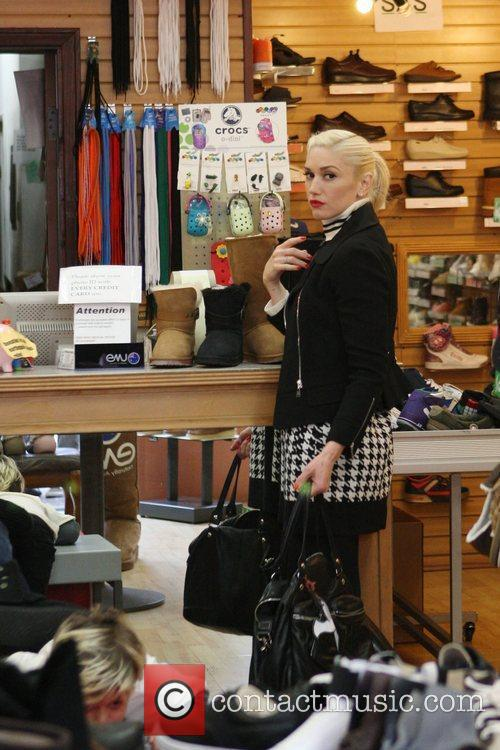 Gwen Stefani on a family day out to...
