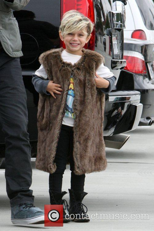 Kingston Rossdale on a family day out to...