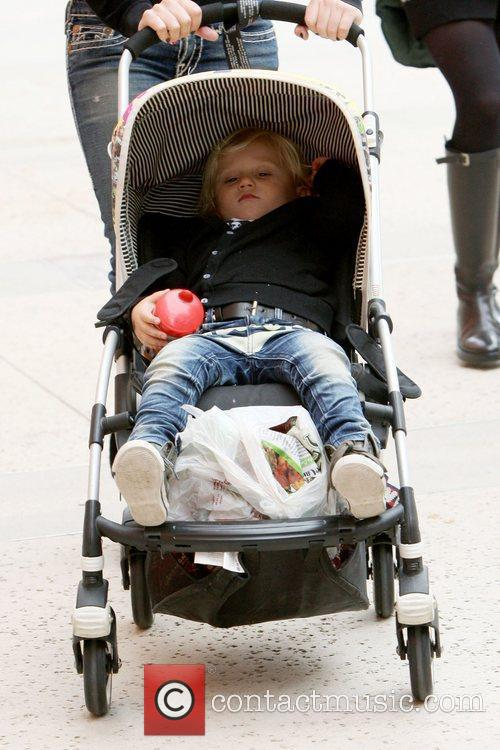 Zuma Rossdale on a family day out to...