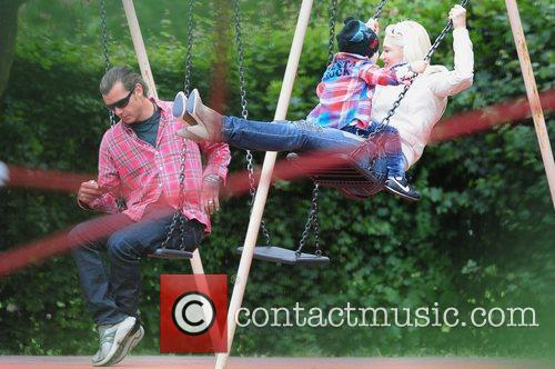 Gavin Rossdale and Gwen Stefani in Primrose Hill...