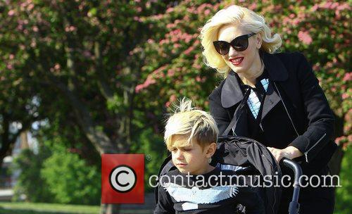Gwen Stefani and family out and about on...
