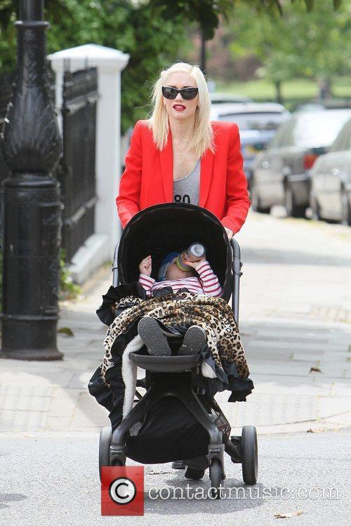 Gwen Stefani and family out and about in...