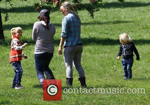 Gavin Rossdale takes his boys to the park...