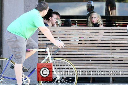 Gwen Stefani eating at Robata Jinya Japanese restaurant...