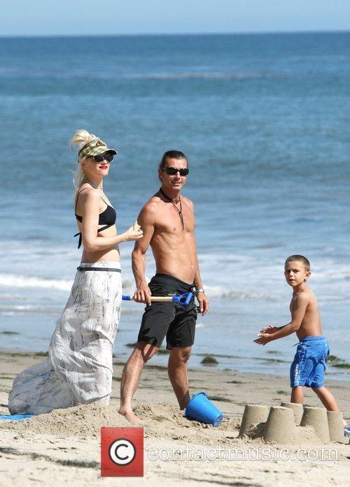 Gwen Stefani, Gavin Rossdale, Malibu Beach