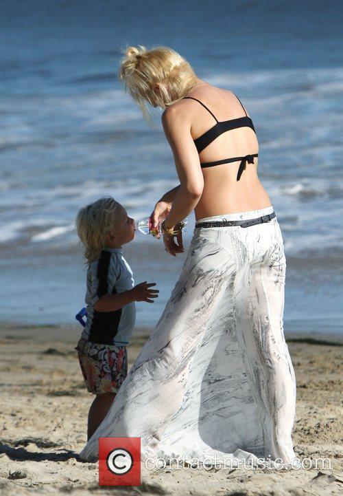 Gwen Stefani and Zuma Rossdale Gwen Stefani and...