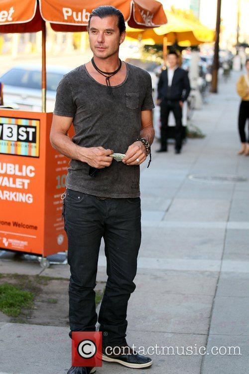 Gavin Rossdale leaving Robata Jinya Japanese restaurant after...