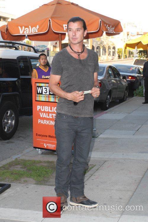Gavin Rossdale outside a Japanese restaurant where he...