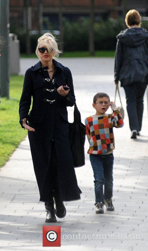 Gwen Stefani with her son Kingston out and...