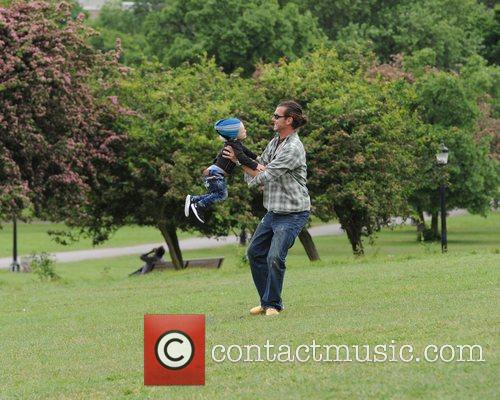 Gavin Rossdale and son Zuma Rossdale spending the...