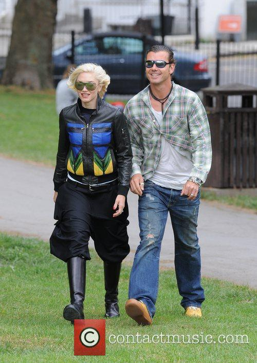 Gwen Stefani and Gavin Rossdale spending the day...