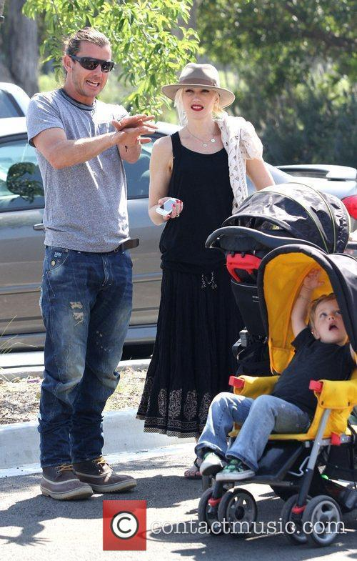 Gwen Stefani, Gavin Rossdale and family at Los...