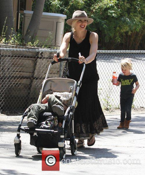 Gwen Stefani and family at Los Angeles Zoo...