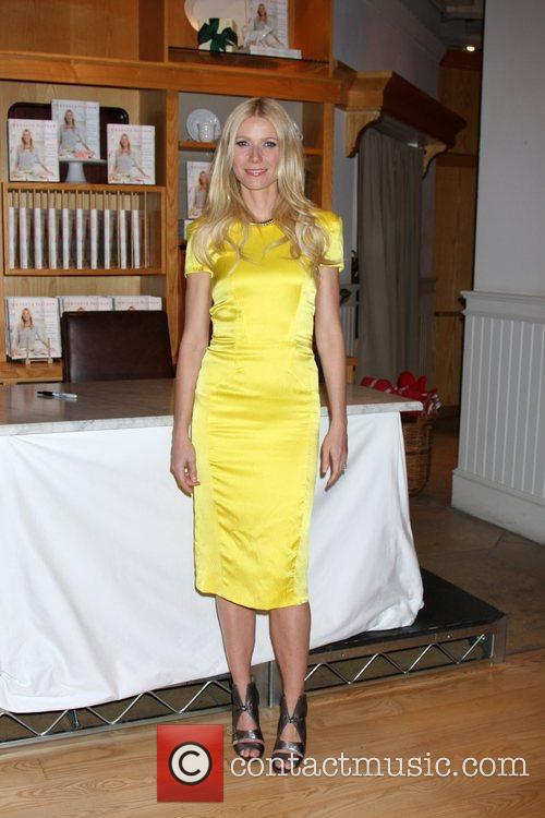 Gwyneth Paltrow  signs copies of her new...