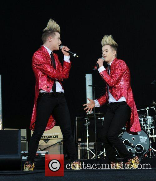 Jedward Bands and artists perform in concert at...