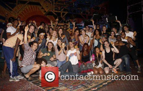 The cast of Hair The Broadway production of...