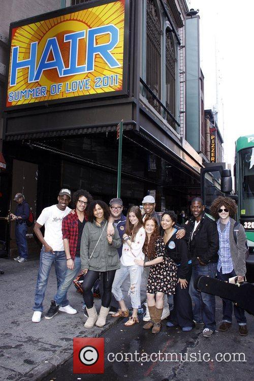 The cast of the upcoming Broadway musical 'HAIR'...