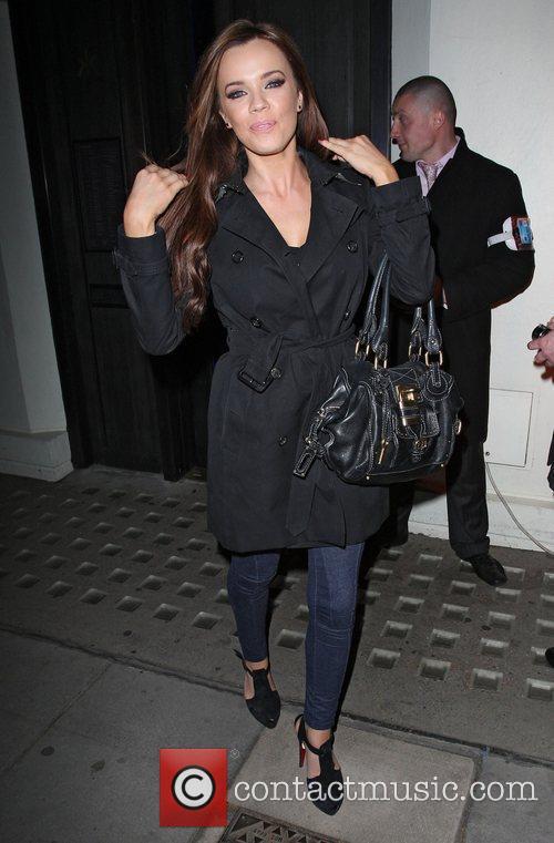 Maria Fowler leaving Hakkasan restaurant London, England -13.04.11
