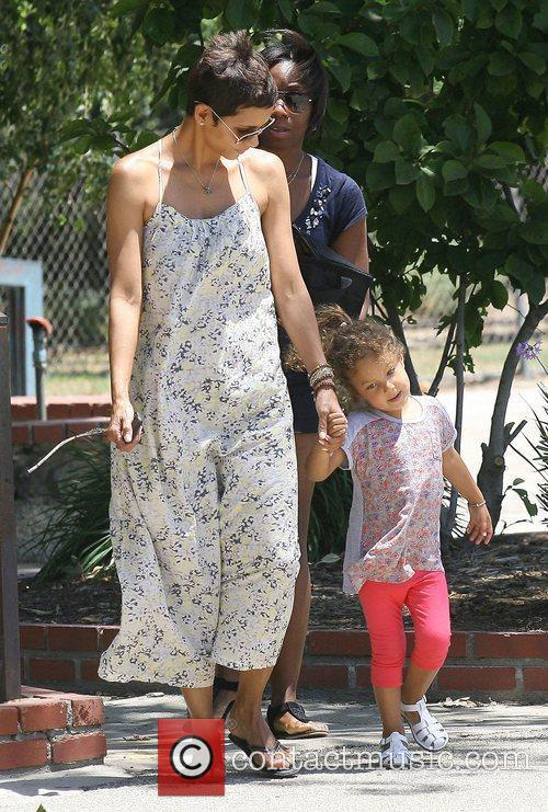 Halle Berry and her daughter Nahla Ariela Aubry...