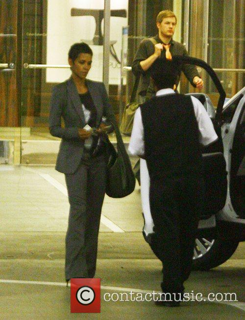 Halle Berry leaving an office building in Beverly...