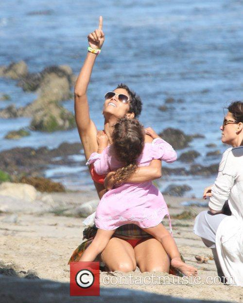 Halle Berry looks in great spirits as she...