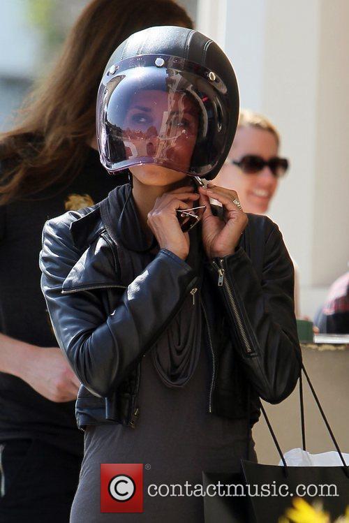 Halle Berry and Helmet 1