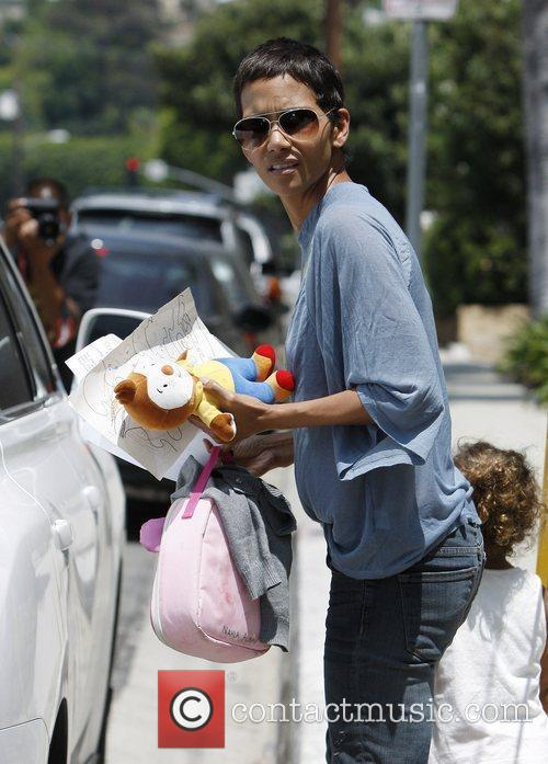 Halle Berry collects her daughter Nahla Ariela Aubry...