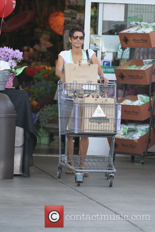 Halle Berry  goes grocery shopping at Bristol...