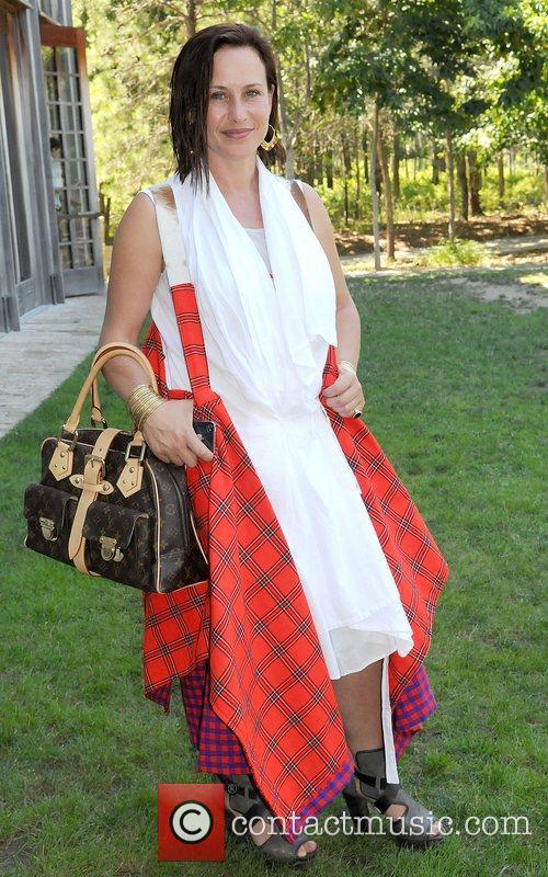 Patricia Arquette,  at the Hamptons for Haiti...