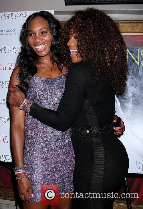 Venus Williams and Serena Williams attend the celebration...