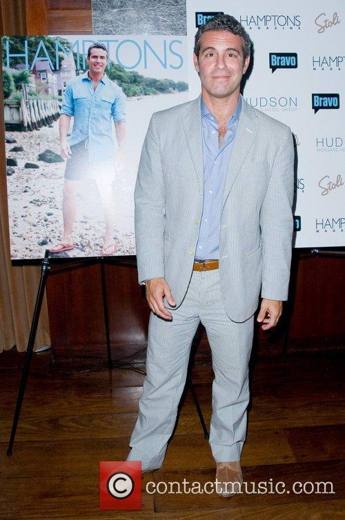 Andy Cohen Hamptons Magazine's celebration with cover star...